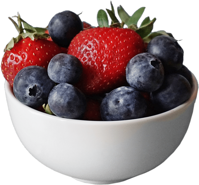 Bowl of mixed berries