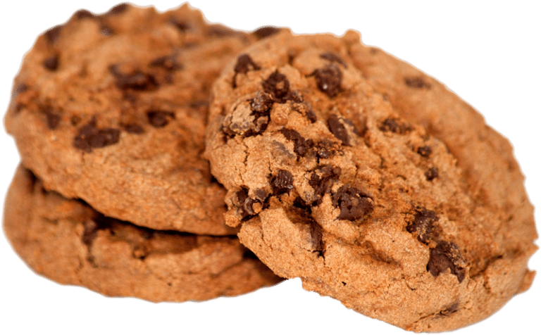 Trio of chocolate chip cookies
